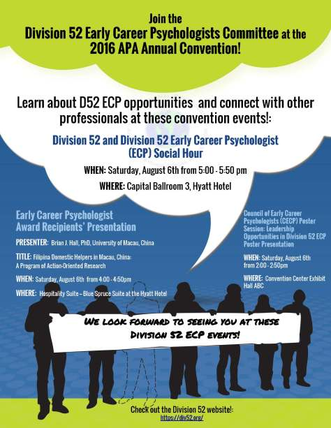 APA 2016 ECP Events